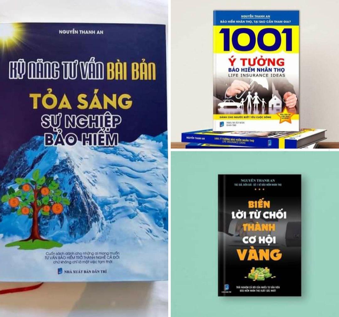 """3 quyển sách """"cẩm nang"""" trong nghề bảo hiểm"""