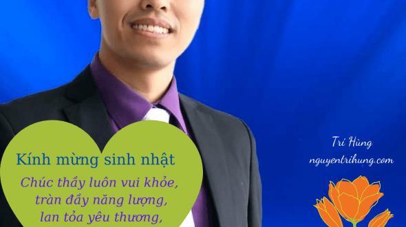 Sinh nhật thầy NGUYỄN THANH AN