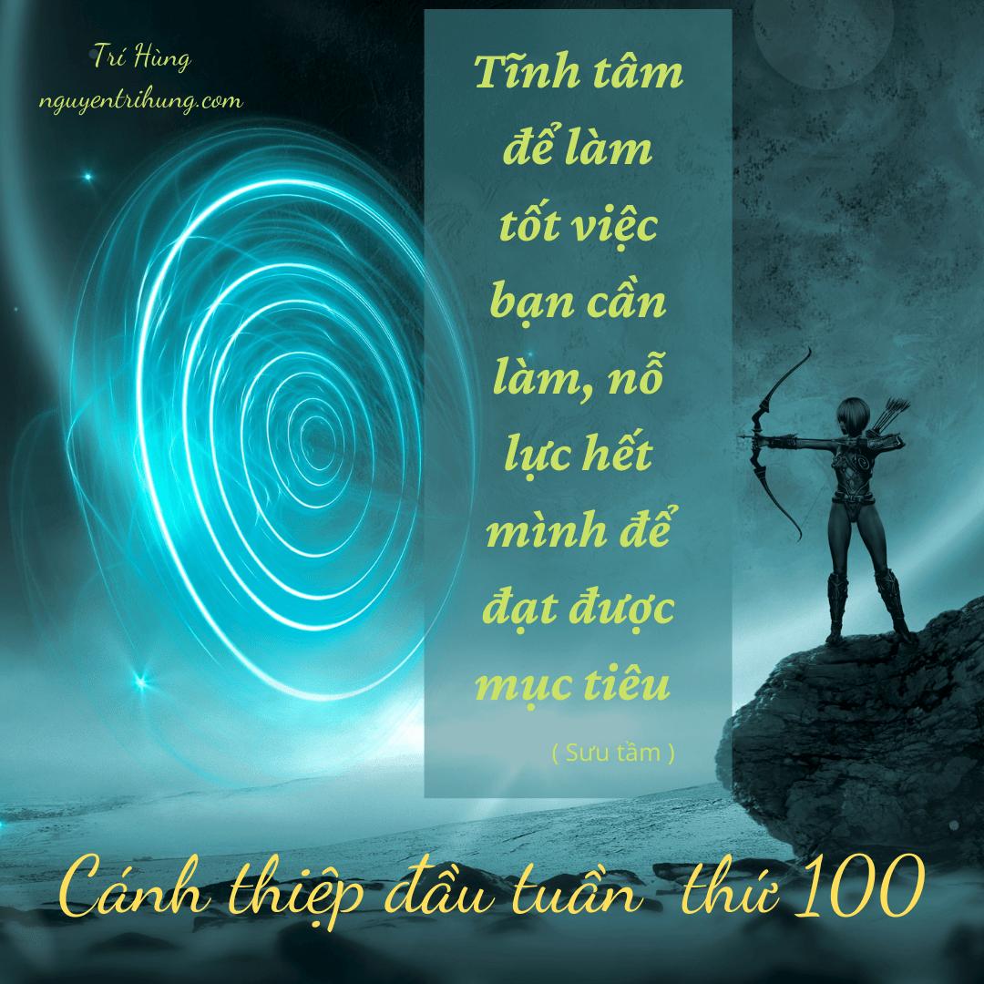 Cánh thiệp đầu tuần thứ 100